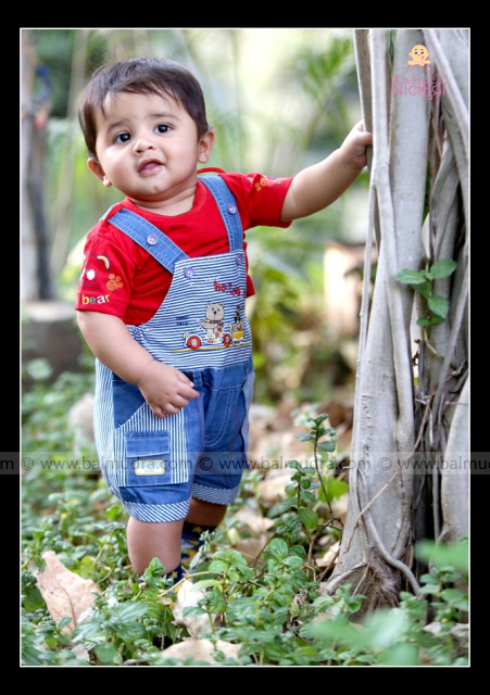 Baby Boy Giving Cute Smile During His Photoshoot Balmudrabalmudra