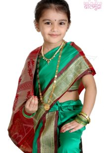 Cute Baby Girl Posing For Camera in Indian Baby Kalpana Sari