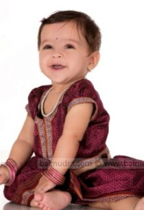 Cute baby girl in traditional outfit - babiesphotographerinpune