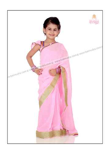 Captured the Beauty of Little Girl in Indian Baby Sari Shoot by Shrikrishna Paranjpe.jpg